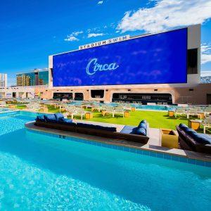 Swimming pool at Circa Resort in Las Vegas